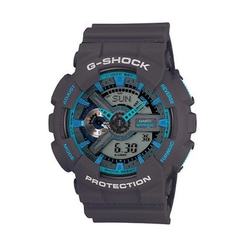 Casio G-Shock GA-110TS-8A2DR Grey Blue Jam Tangan Pria