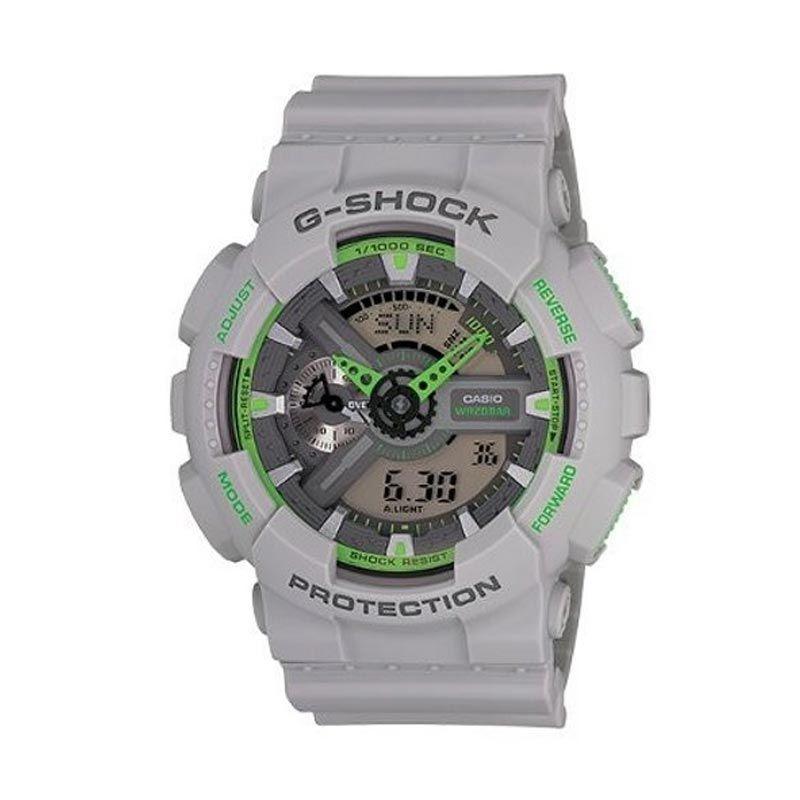 Casio G Shock GA-110TS-8A3DR Grey Green Jam Tangan Pria