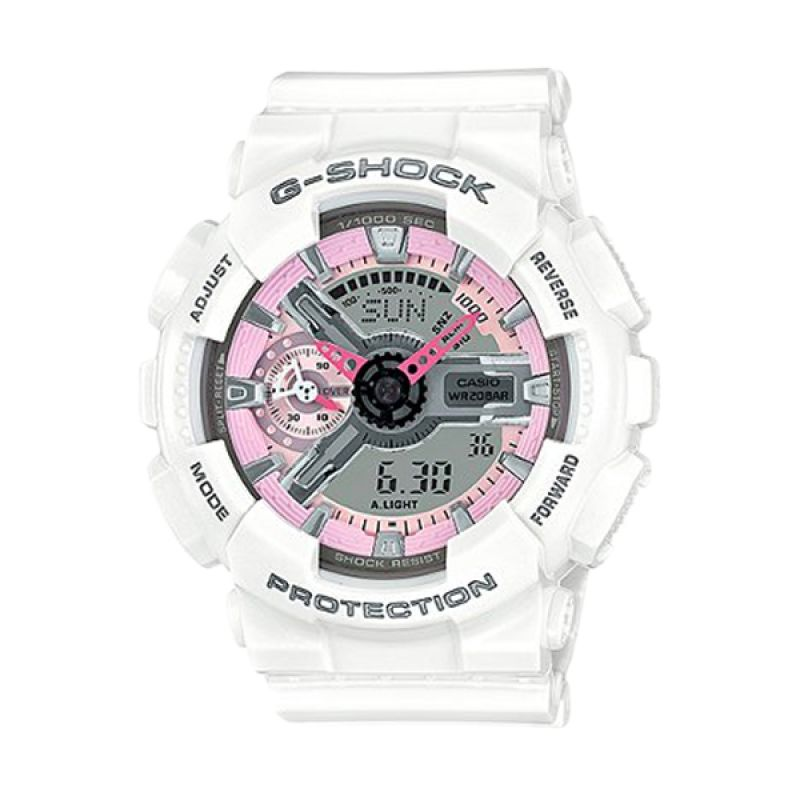 Casio G-Shock GMA-S110MP-7ADR White Jam Tangan Pria