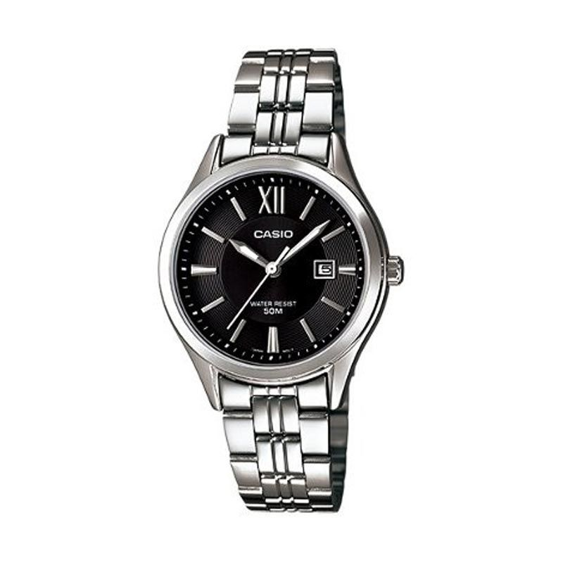 Casio Ladies Analog LTP-E103D-1AVDF Black Jam Tangan Wanita