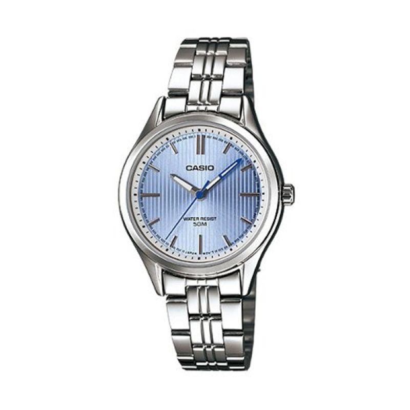 Casio Ladies Analog LTP-E104D-2AVDF Blue Jam Tangan Wanita