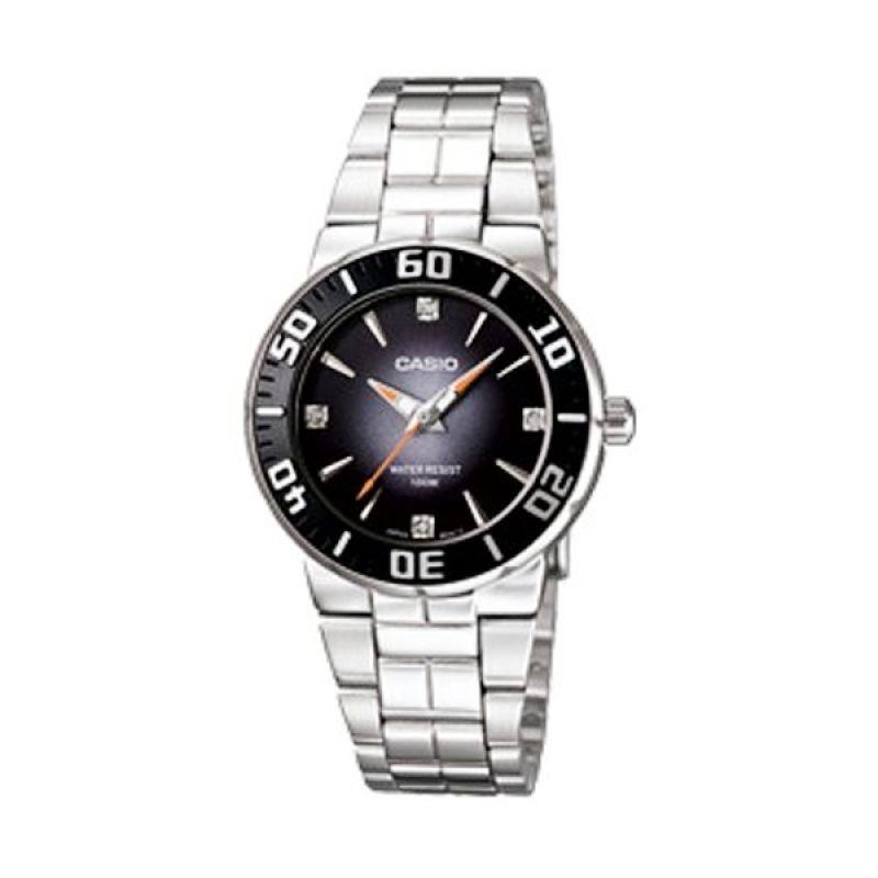 Casio LTD-2000D-1AVDF Siver Hitam Jam Tangan Wanita