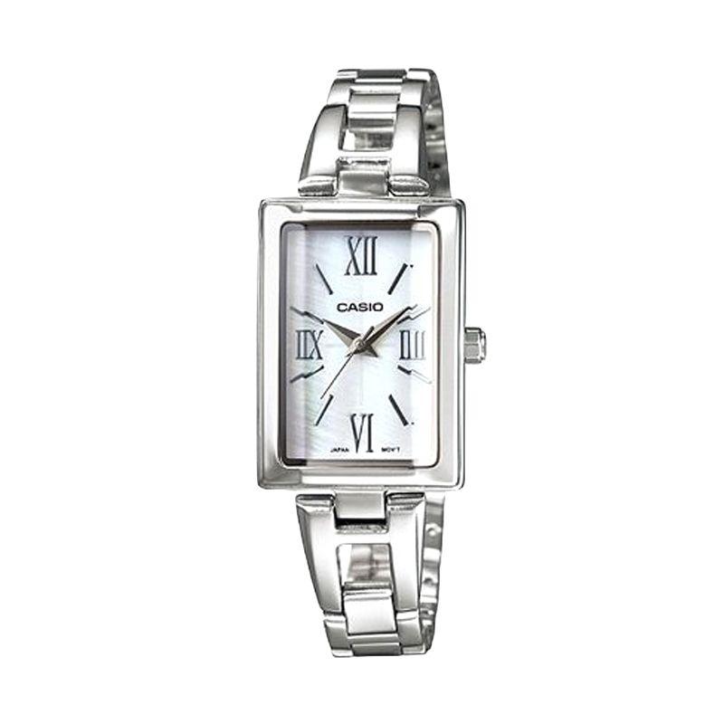 Casio LTP-1341D-7ADF White Silver Jam tangan Wanita