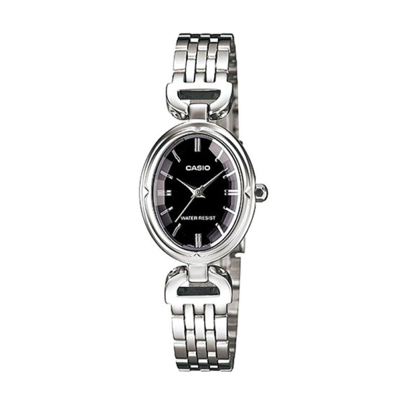 Casio LTP-1374D-1ADF Silver Putih Jam Tangan Wanita