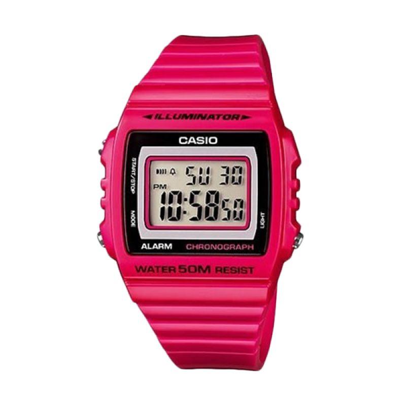 Casio Man Illuminator W-215H-4AVDF Pink Jam Tangan Pria