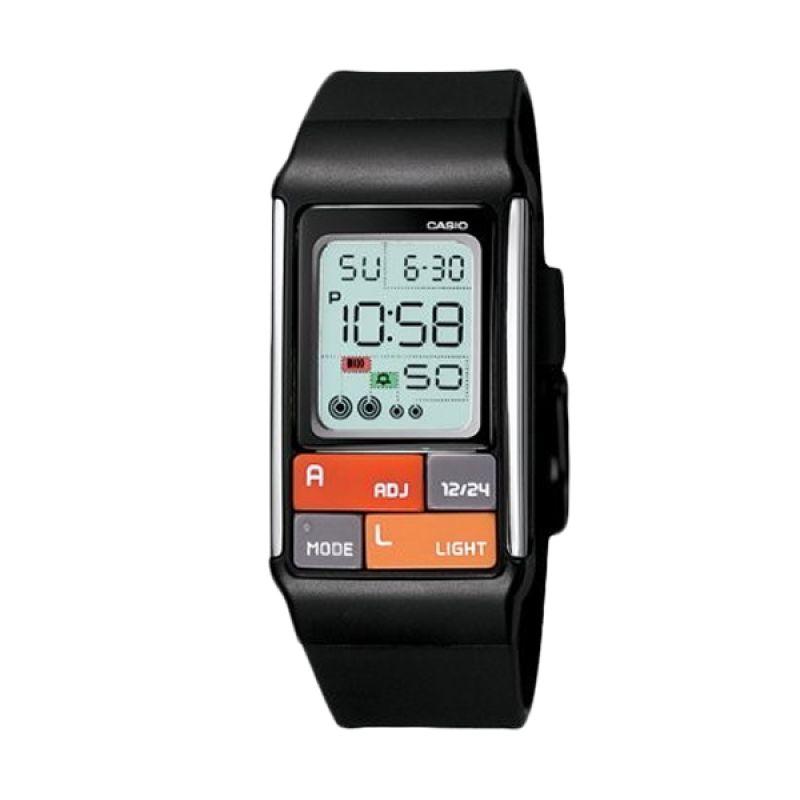 Casio Poptone LDF-50-1DR Hitam Jam Tangan Wanita