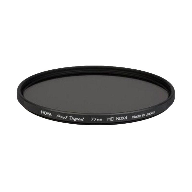 Hoya 77mm Pro1 Digital ND4 Hitam Filter Lensa Kamera
