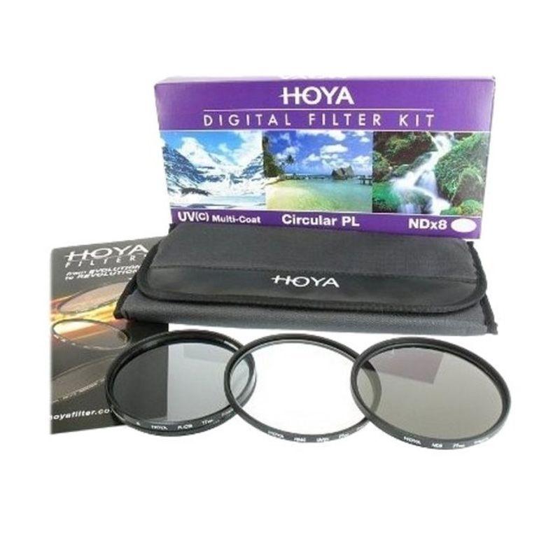 Hoya Digital Filter Kit 58mm Hitam Filter Lensa Camera