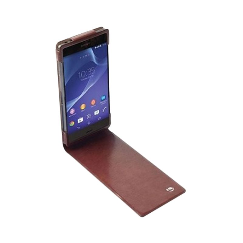 Krusell Kalmar Wallet Brown Casing for Sony Xperia T3