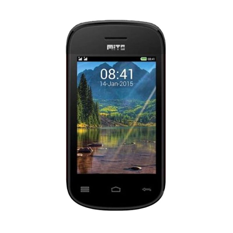 Mito 313 Hitam Handphone [Dual Sim]