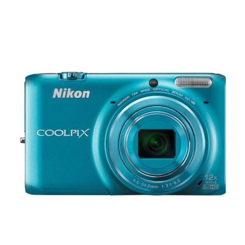 Nikon Coolpix S6500 Biru Kamera Pocket