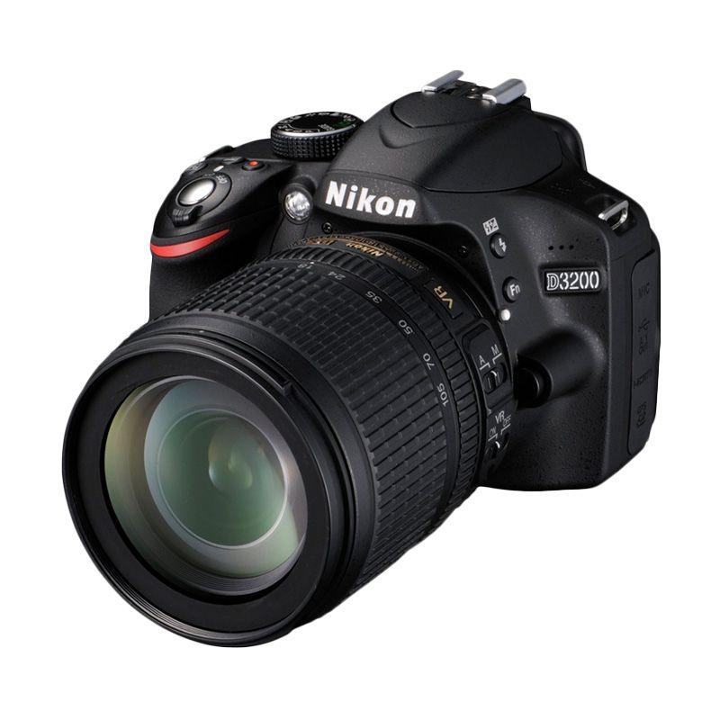 Nikon D3200 Kit 18-105 VR Hitam Kamera DSLR
