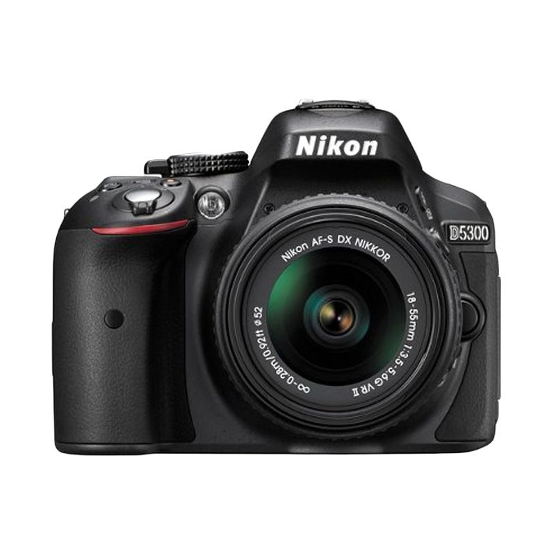 Nikon D5300 Kit 18-55 VR II Hitam Kamera DSLR