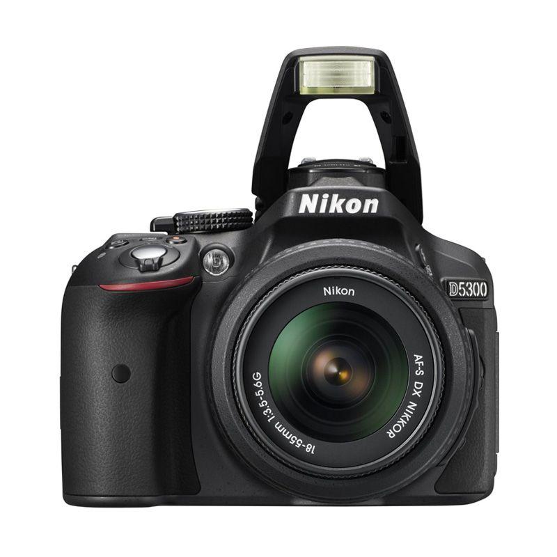 Nikon D5300 Kit 18-55mm Hitam Non VR Kamera DSLR
