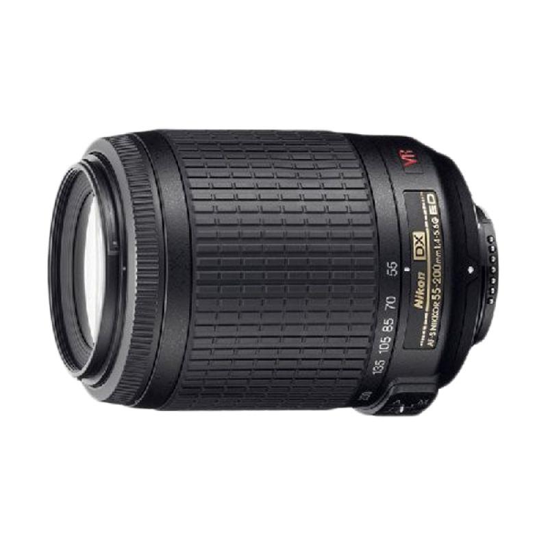 Nikon Nikkor 55-200mm Black Lensa Kamera