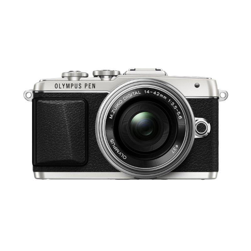 Olympus Pen E-PL7 14-42mm II R Silver Hitam Kamera Mirrorless