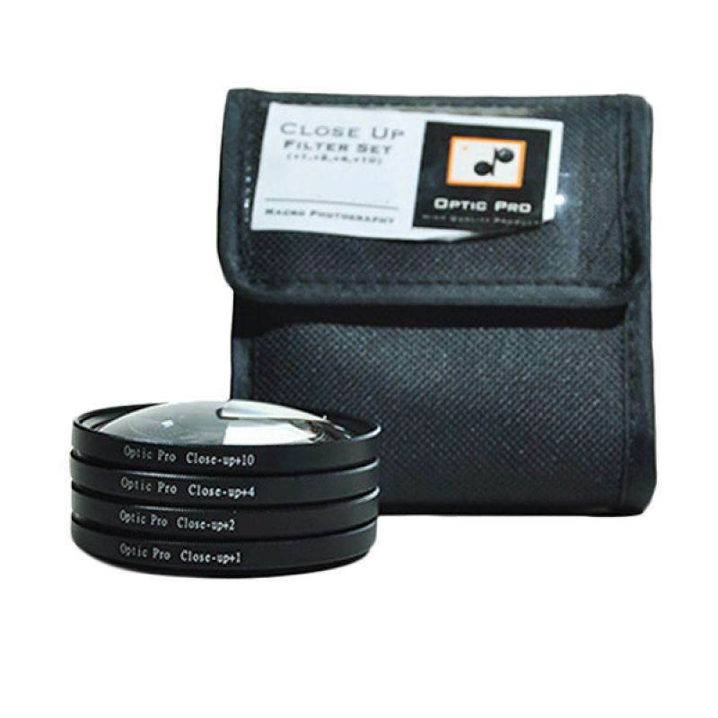 Optic Pro Close Up Kit 55mm Filter Lensa