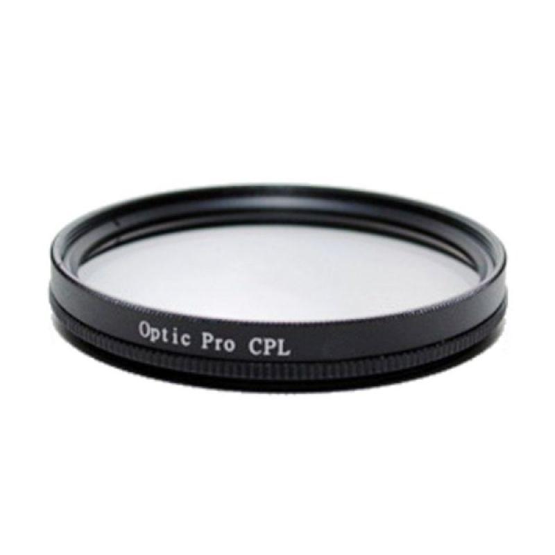 Optic Pro CPL 49mm Hitam Filter Lensa Camera