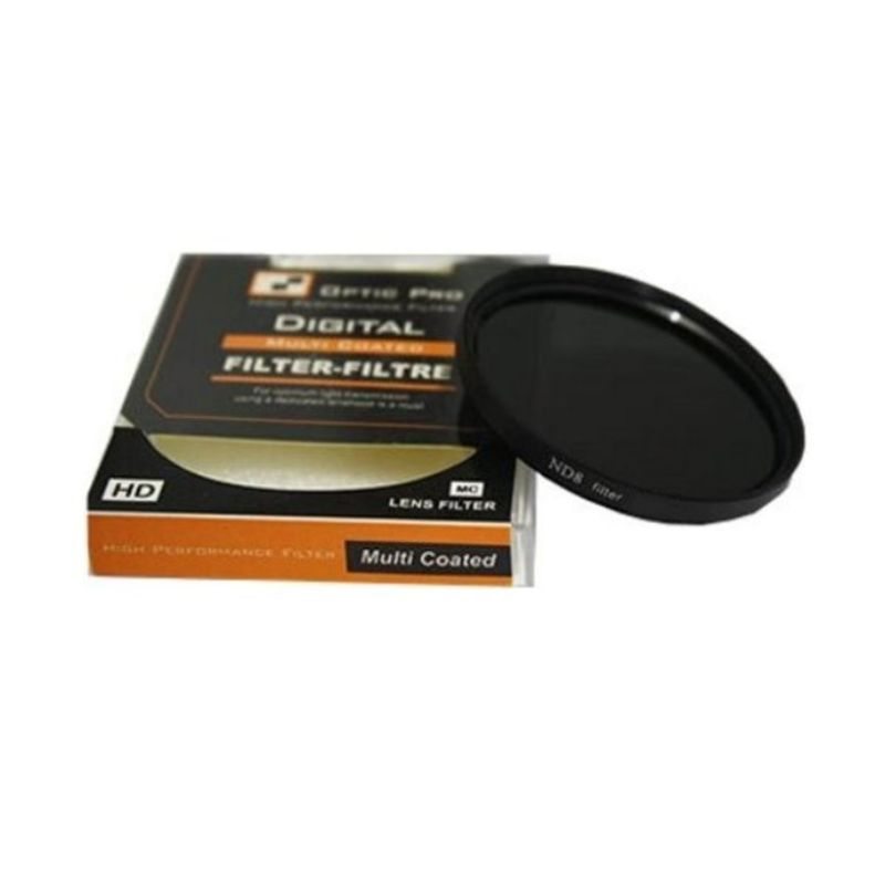 Optic Pro Netral Density 08 37mm Hitam Filter Lensa