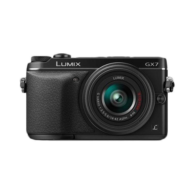 Panasonic Lumix G GX7 KIT 14-42mm Hitam Kamera Mirrorless