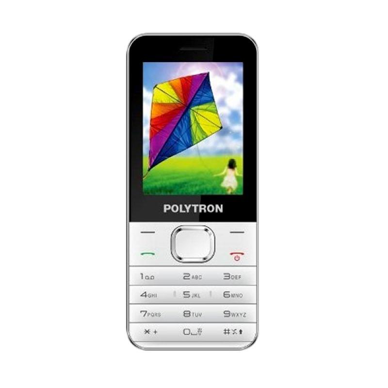 Polytron C201 Putih Hitam Handphone [Dual SIM]