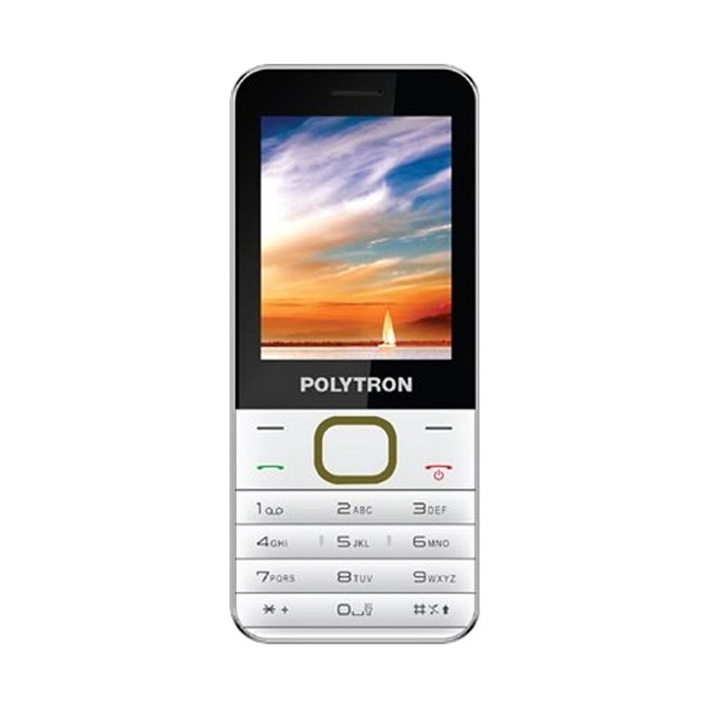 Polytron C201 Putih Kuning Handphone [Dual SIM]