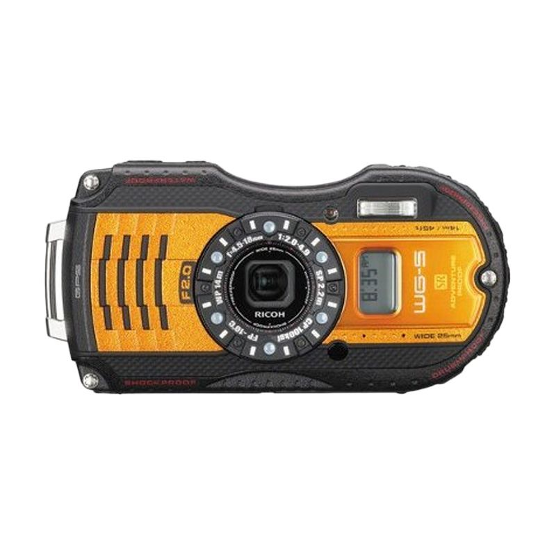 Ricoh GPS WG 5 Orange Kamera Pocket
