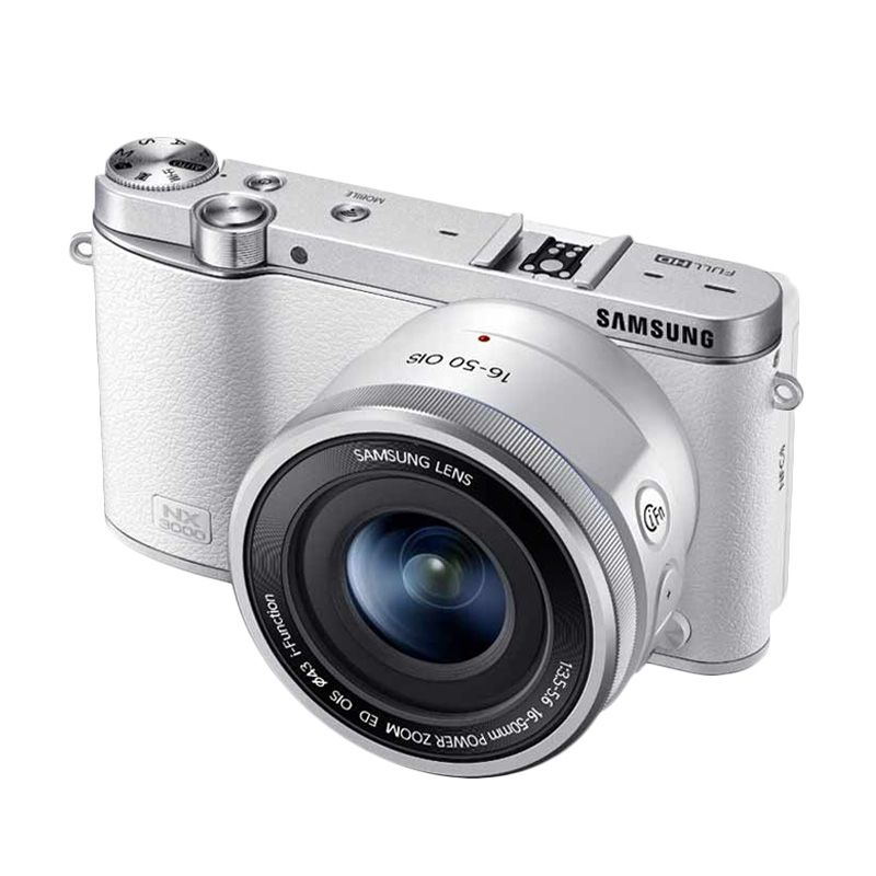 Samsung NX3000 16-50mm Putih Kamera Mirrorless