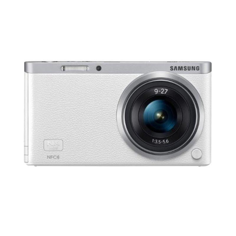 Samsung NXF1 Mini Kamera Mirrorless + 9-27mm Putih Zoom Lens