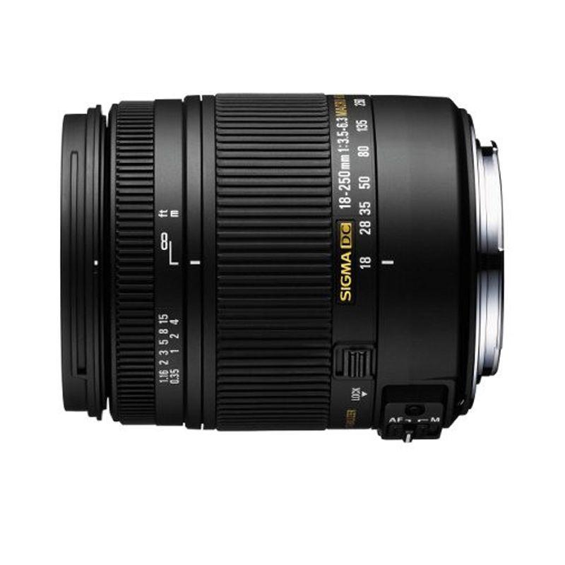 Sigma 18-250mm f/3.5-6.3 DC Macro Black Camera Lens for Canon