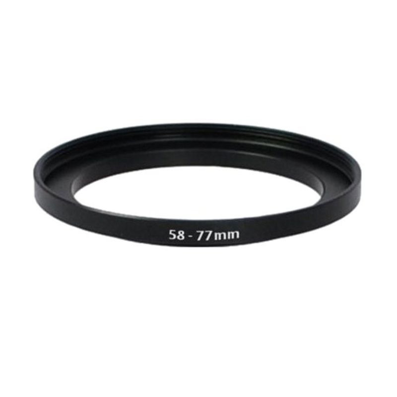 Tiffen 58-77mm Hitam Step Up Ring Aksesoris Kamera
