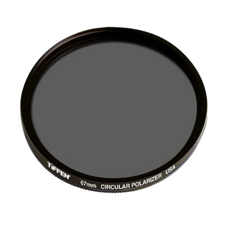 Tiffen 67mm Circular Polarizing Hitam Filter Lensa Camera