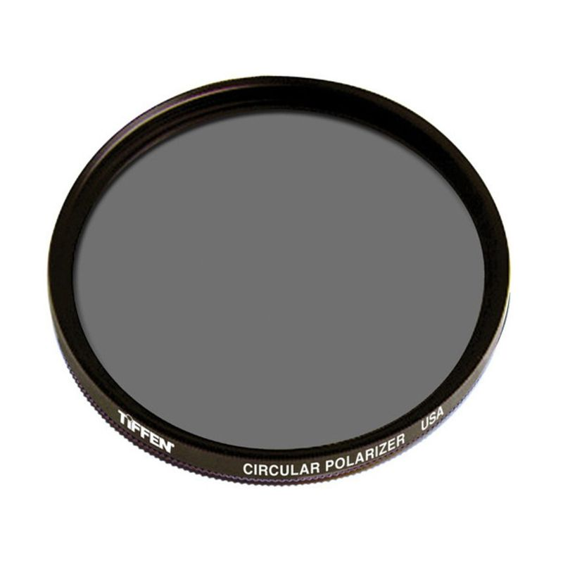Tiffen 72mm Circular Polarizer Hitam Filter Lensa Camera