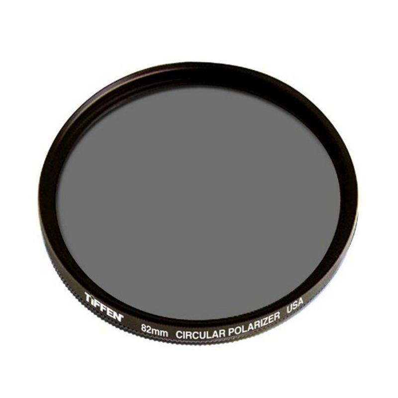 Tiffen 82mm Circular Polarizer Hitam Filter Lensa