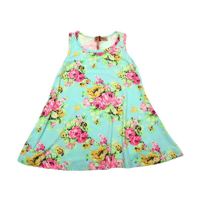Adel & Audrey Flower 129 Green Dress Anak