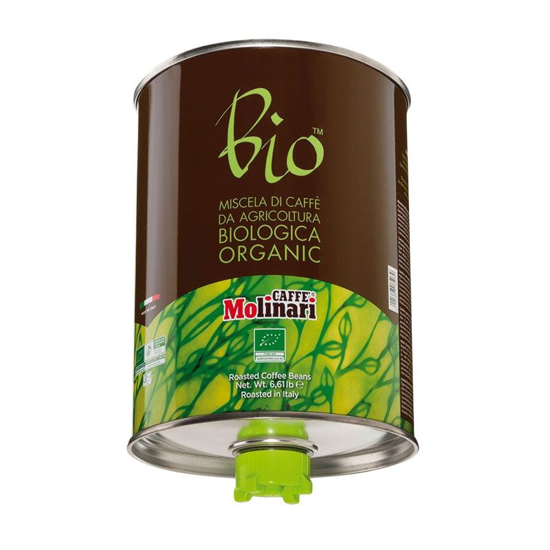 Caffe Molinari Bio Organic 100% Arabica Biji Kopi [3000 gr]