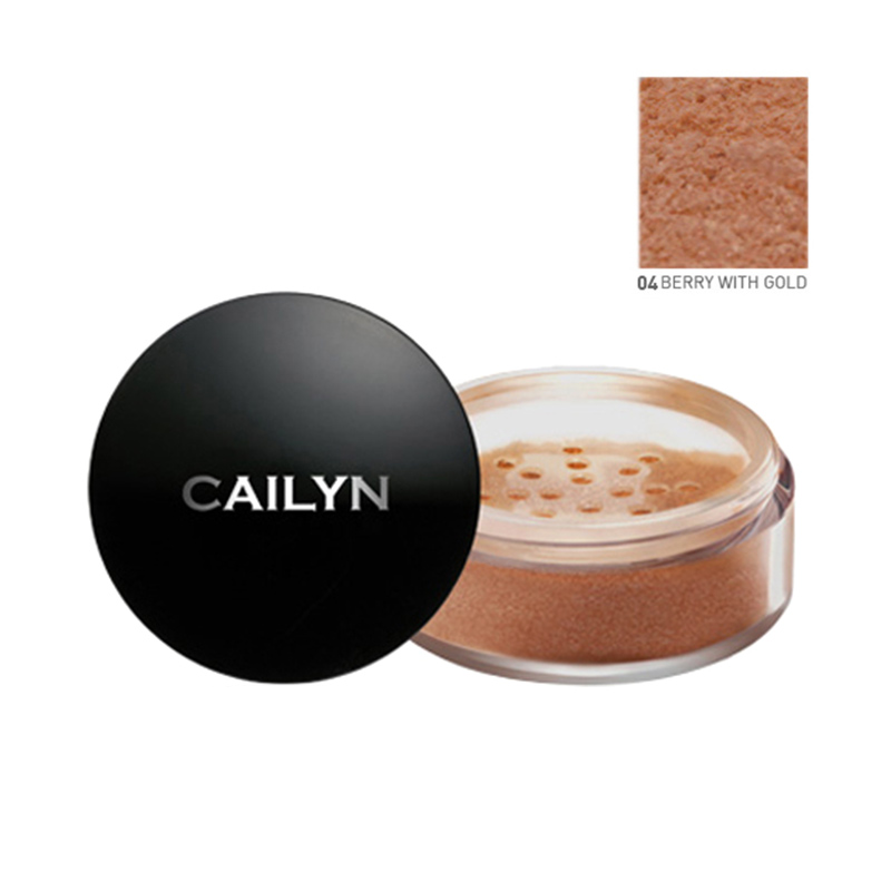Cailyn Deluxe Mineral Bronzer Powder 04 Berry With Gold