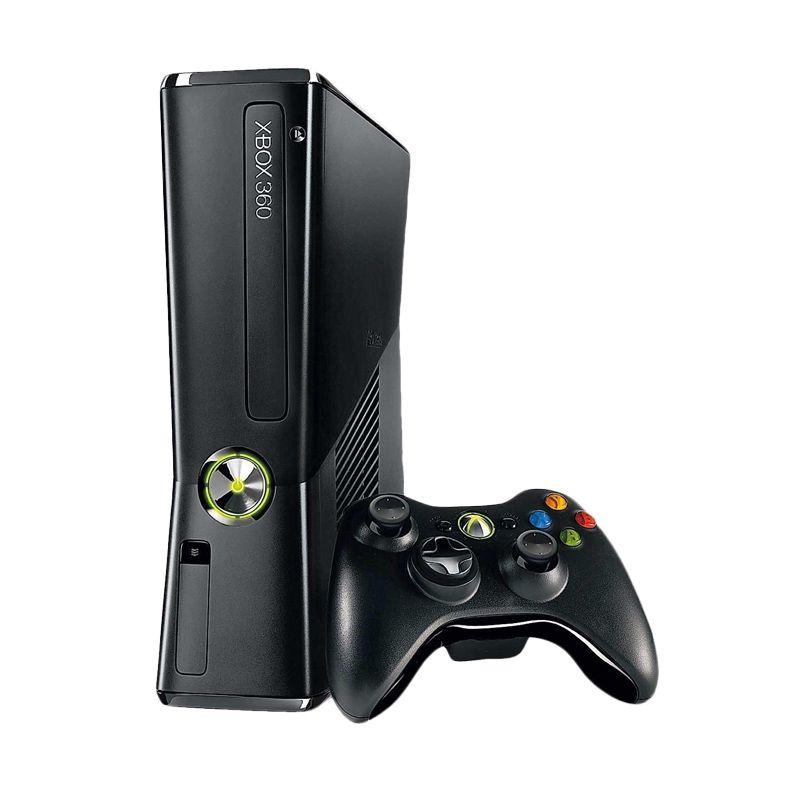 Microsoft Xbox 360 Black Game Console [4 GB] + 120 GB HDD INT