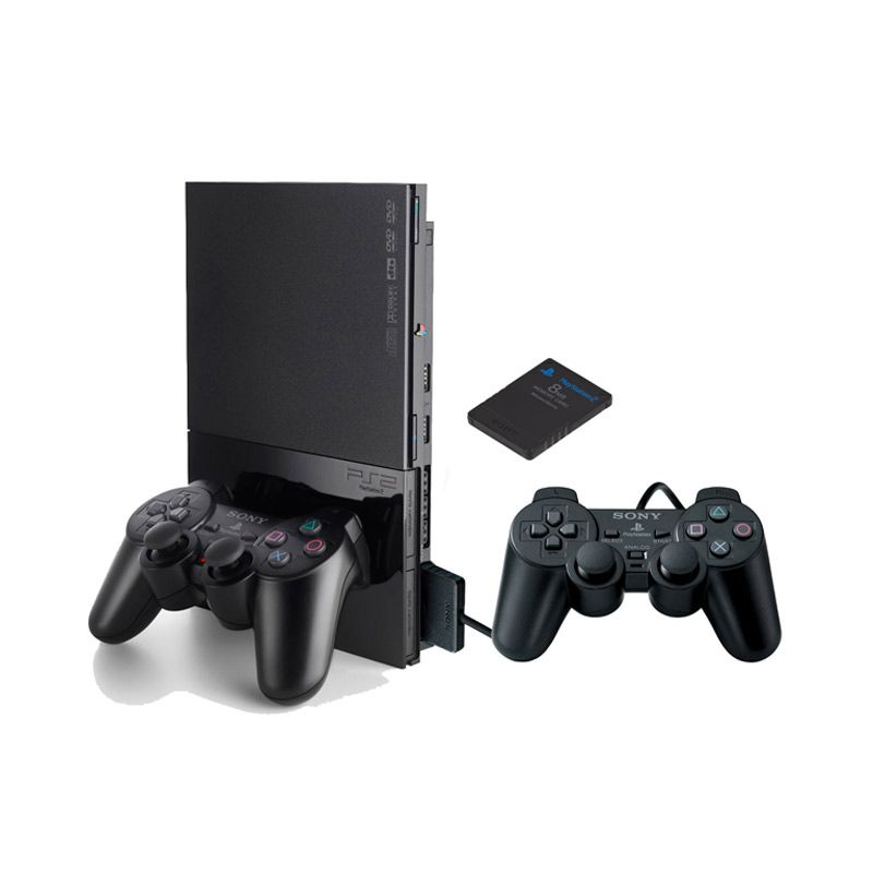 Sony Playstation 2 + 2 Stick + Memory Card 8 MB