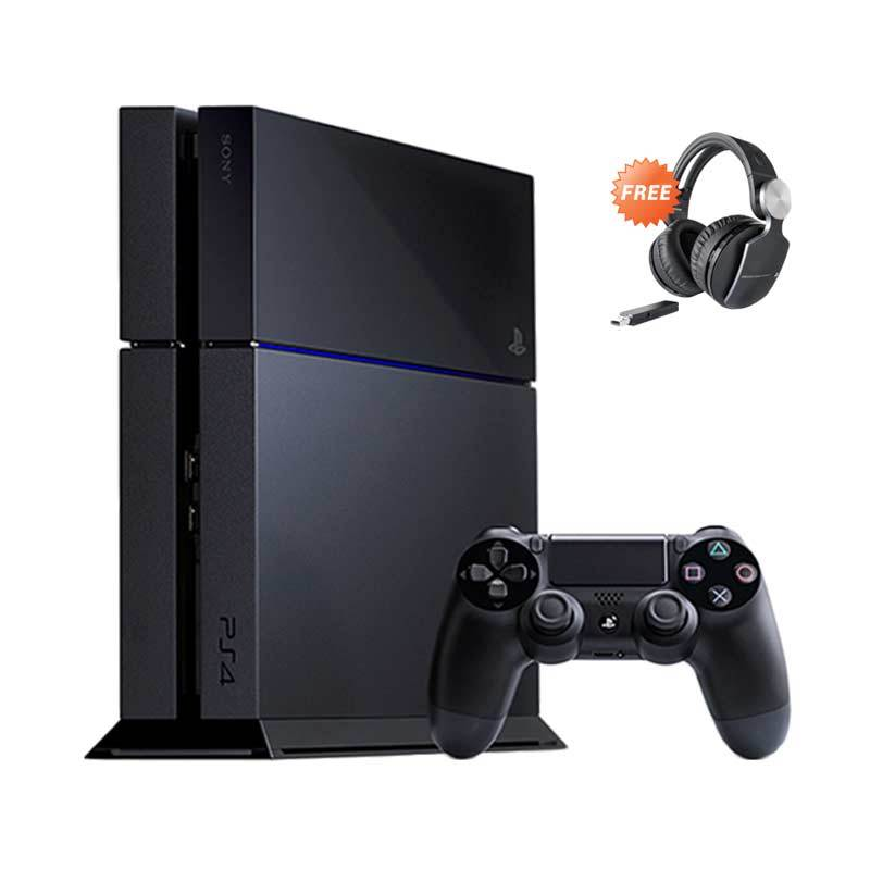 Sony Playstation 4 Jet Black Game Console [500 GB] + Pulse Elite Edition Sony