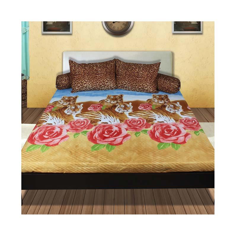 California B Motif Dessert/Rose & Tiger Sprei Set [180 x 200 x 20 cm]