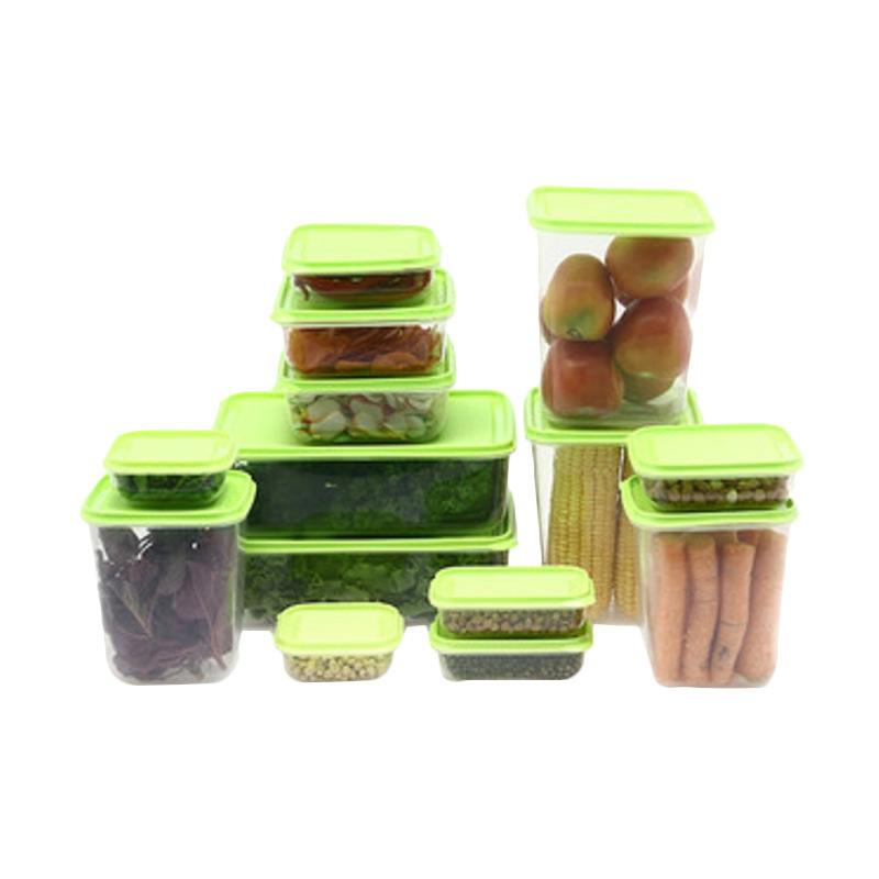 harga Calista Otaru Sealware Set Tempat Penyimpanan Makanan - Hijau [14 Pcs] Blibli.com