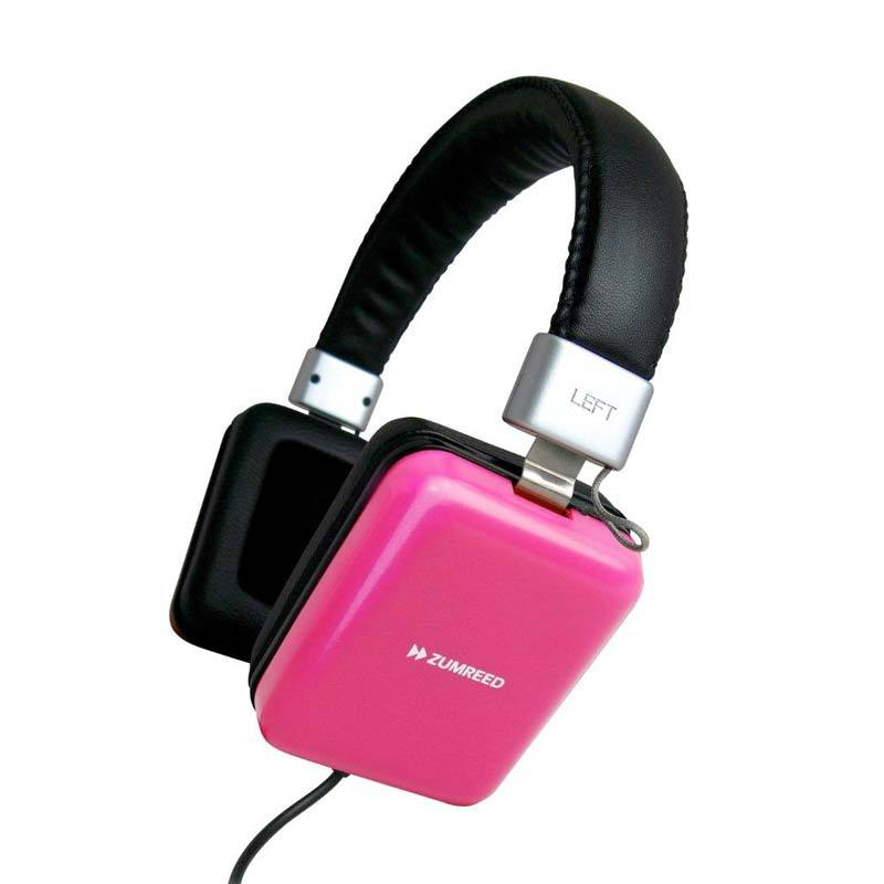 Zumreed ZHP-010 Square portable stereo headphones Pink