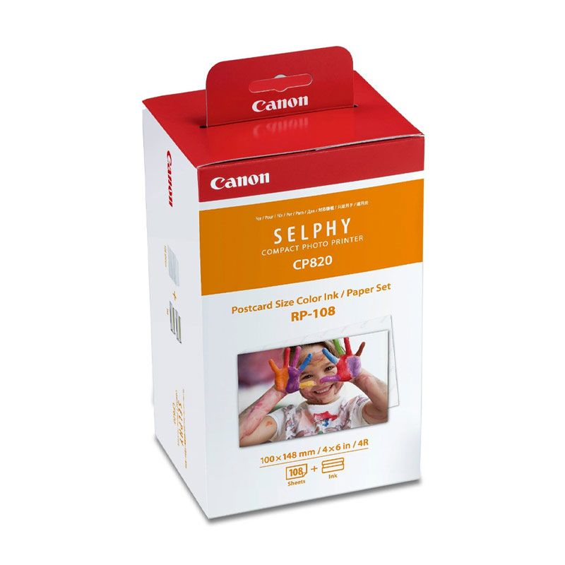 Canon Easy Pack RP 108 Photo Paper For Printer Canon Selphy [CP820 / CP910]