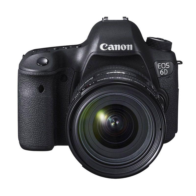 Canon EOS 6D Kit 24-70mm L IS USM Kamera DSLR [Wi-Fi dan GPS]