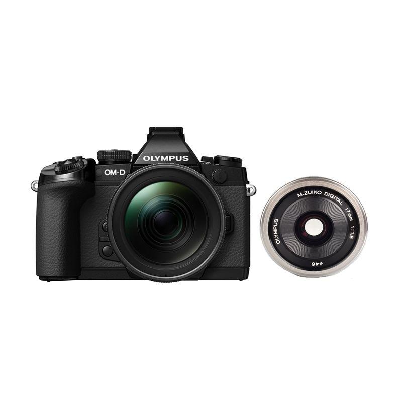 Olympus OM-D E-M1 Kit 12-40mm f/2.8 PRO dan M.Zuiko Digital 17mm f/1.8 Kamera Mirrorless
