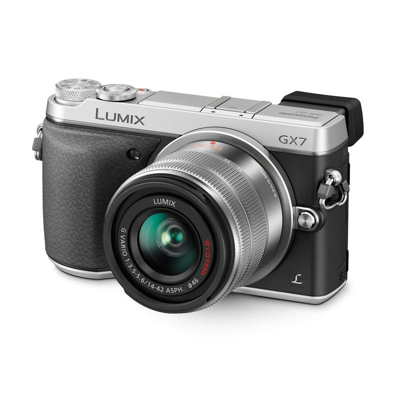 Panasonic Lumix DMC-GX7 Kit 14-42mm f/3.5-5.6 Silver Kamera Mirrorless