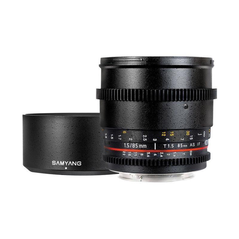 Samyang 85mm T1.5 VDSLR Cine Lensa Kamera for Canon