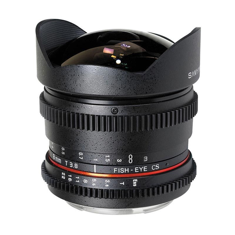 Samyang 8mm T3.8 VDSLR Cine Lensa Kamera for Canon