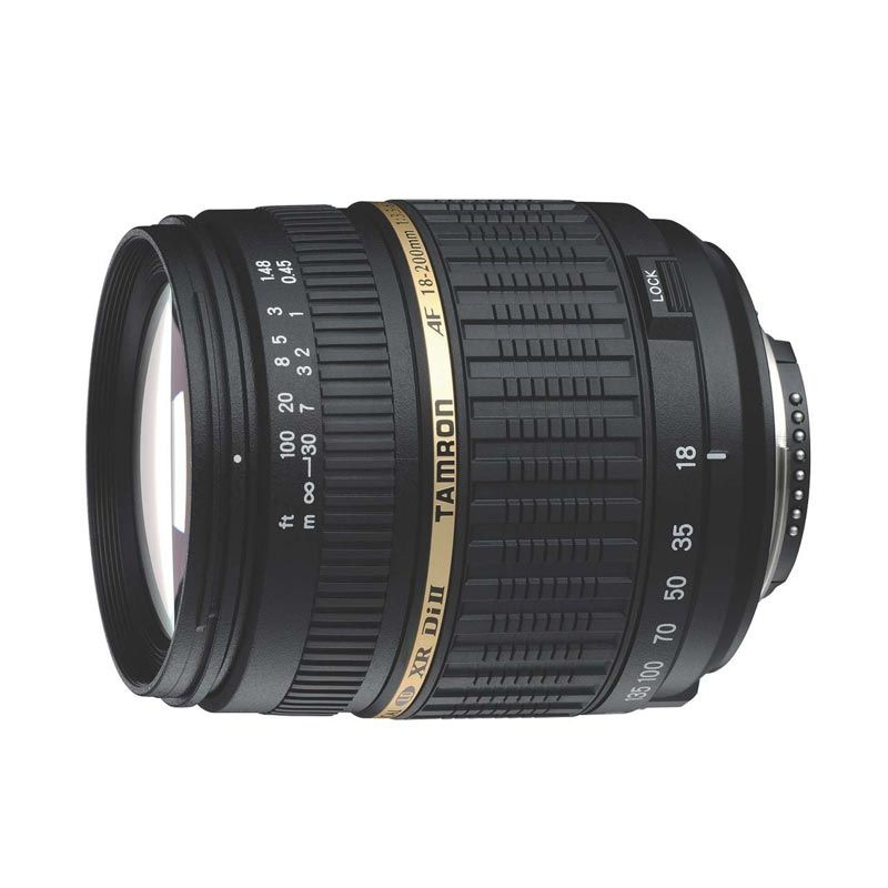 Tamron AF 18-200mm f/3.5-6.3 XR Di-II LD Aspherical (IF) Lensa Kamera for Canon